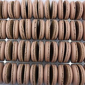Макаронс напівфабрикат кришечки половинки коричневі