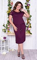 Літнє жіноче плаття з турецької віскози з гіпюрової спинкою і гипюровыми короткими рукавами(50-54), фото 1