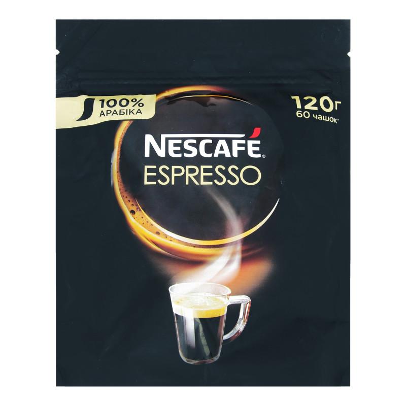 Нескафе Эспрессо кофе растворимый 120 грамм в мягкой упаковке