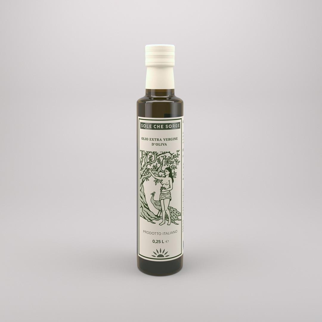 Ексклюзивне Сицилійське оливкова олія Extra Vergine d'oliva Sole che Sorge, 0,25 л