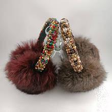 Наушники - короны из натурального меха