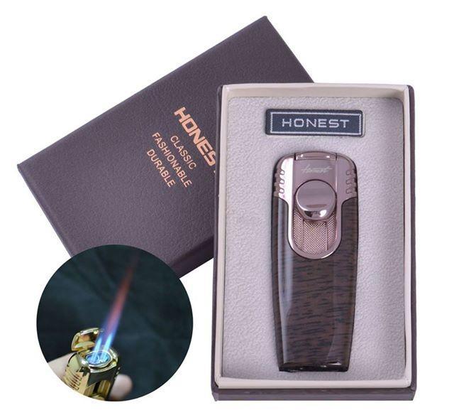 ✅ Зажигалка в Подарочной Упаковке HONEST (двойной факел)