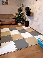 Детский коврик пазл 200*200 см набор 16 элементов плотность 100кг/м3