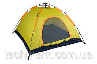 Палатка автоматическая D&T - 2 x 2 м  водонепроницаемая для кемпинга, рыбалки  Желтый