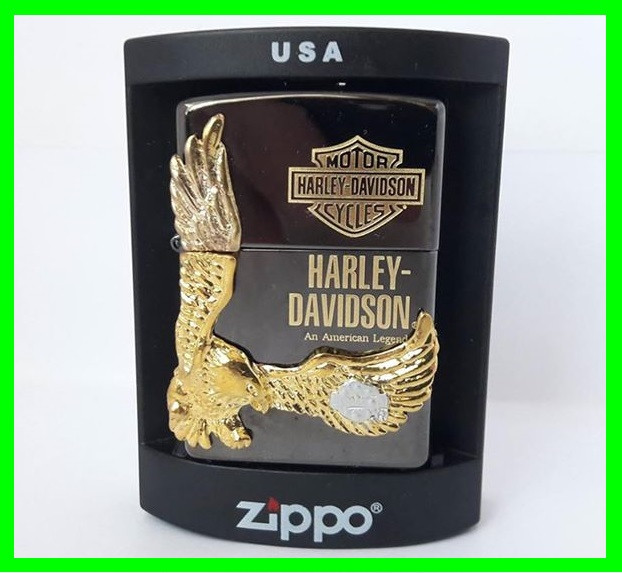 ✅ Зажигалка ZIPPO Бензиновая Зиппо (Harley - Devidson Black)