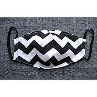 *Маска текстильная защитная многоразовая с кармашком для фильтра 2 слоя ткани. Материал : 100% хлопок.