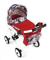 Игрушечная детская коляска для куклы Adbor Lily 23, 70х45х60 см., красная