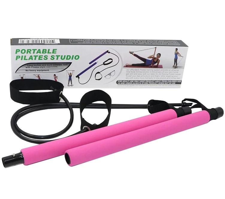Тренажер для занятий пилатесом портативная студия пилатеса Portable Pilates Studio розовый