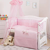 """Постельный детский комплект для новорожденных Twins Twins Evolution """"Котик и собачка"""", 8 элементов, розовый"""