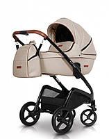Универсальная коляска 2 в 1 детская легкая с алюминиевой рамой Euro-Cart Express, бежевая