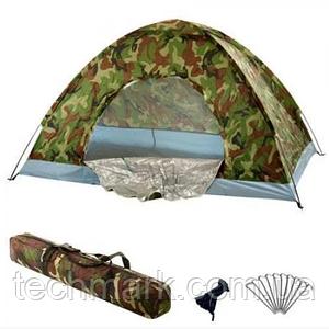 Палатка автоматическая D&T - 2,1 x 2,1 м  водонепроницаемая для кемпинга, рыбалки  Хаки