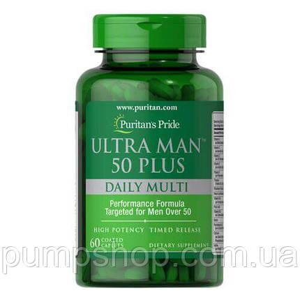Вітаміни для чоловіків Puritan's Pride Ultra Man 50 Plus 60 капс., фото 2