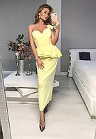 Платье вечернее,с баской,4 цвета,ХС С М Л