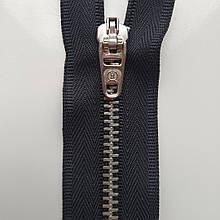 Застібка блискавка для штанів метал / 18см основа колір чорний