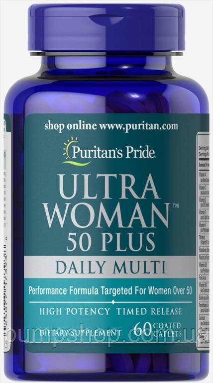 Вітаміни для жінок Puritan's Pride Ultra Woman 50 Plus 60 капс.