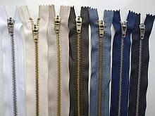 Застібка блискавка для штанів метал / 18см основа колір молочний
