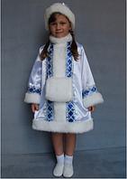 Карнавальный костюм Снегурочка для девочек 5-6 лет белый, фото 1