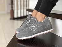 Кросівки жіночі та підлитки New Balance 574 світло сірі арт.9315