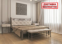 Кровать металлическая двуспальная Стелла
