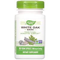 Nature's Way, White Oak Bark, кора белого дуба, 960 мг, 100 веганских капсул