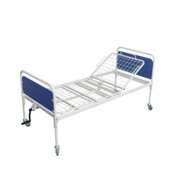 Ліжко функціональне 2-х секційне , ложе — сітка ламелі , на колесах ( механічне регулювання секціями) - ЛФ.2.1.3.1.М