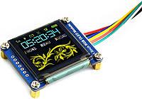 RGB OLED 1.5'' 128x64 16-bit SPI SSD1351 від Waveshare, фото 1