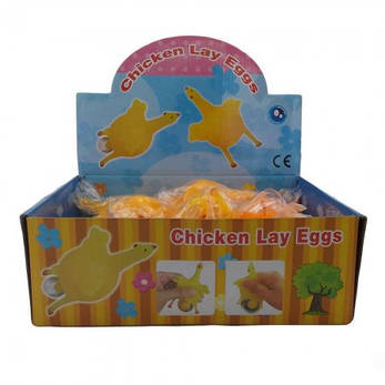 Лизун слайм Антистресс с яйцом Курица, фото 2