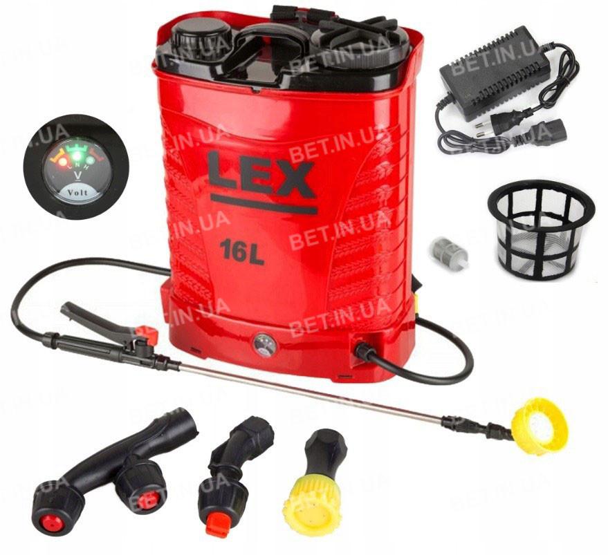 Обприскувач акумуляторний LEX 16l 15Ah