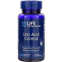 Life Extension, Контроль мочевой кислоты, 60 вегетарианских капсул