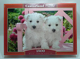 Пазлы 1500 элементов Castorland 151721 Два белых щенка