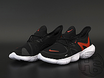 Мужские кроссовки Nike Free RN 5.0 Black White Red AQ1289-009, фото 2