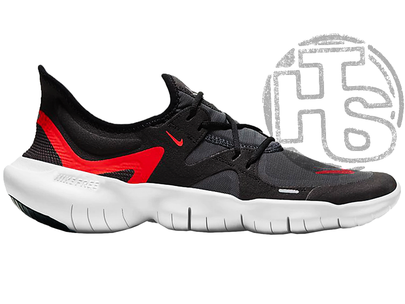 Мужские кроссовки Nike Free RN 5.0 Black White Red AQ1289-009