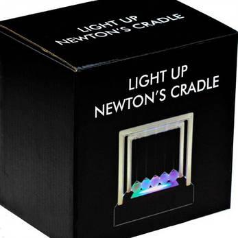 Шары Ньютона квадрат средний светящийся, фото 2