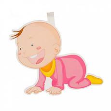 Гирлянда 3D Girl с подвеской Новорожденная, фото 2