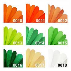 Декор бумажные Помпоны 20см (желто-зеленый), фото 3