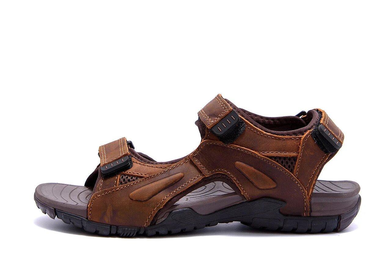 Мужские кожаные сандалии DEFF brown р  40 41 42 43 44