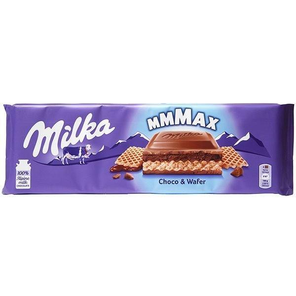 Шоколад молочный Milka mmMAX Choco & Wafer Вафли 300 г Швейцария