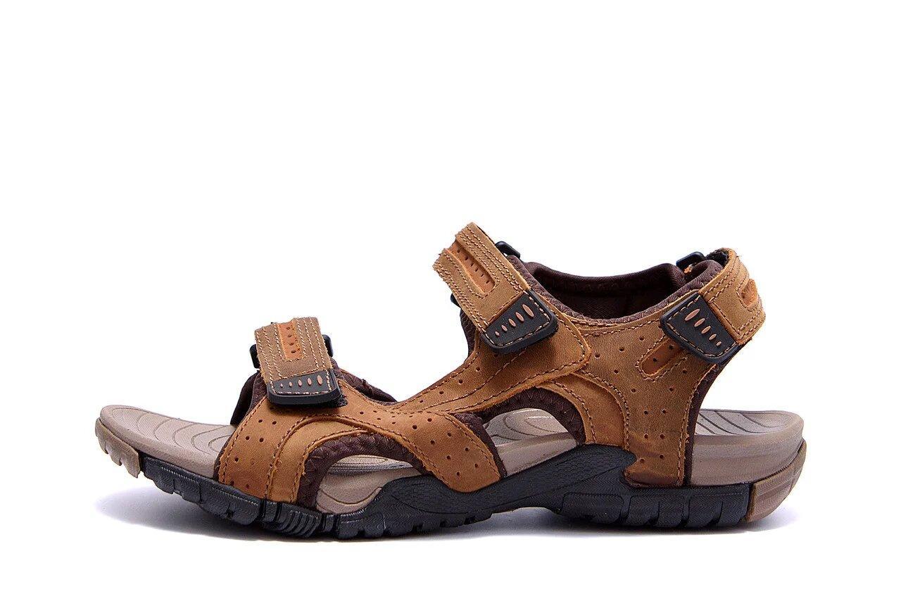 Мужские кожаные сандалии DEFF olive р  40