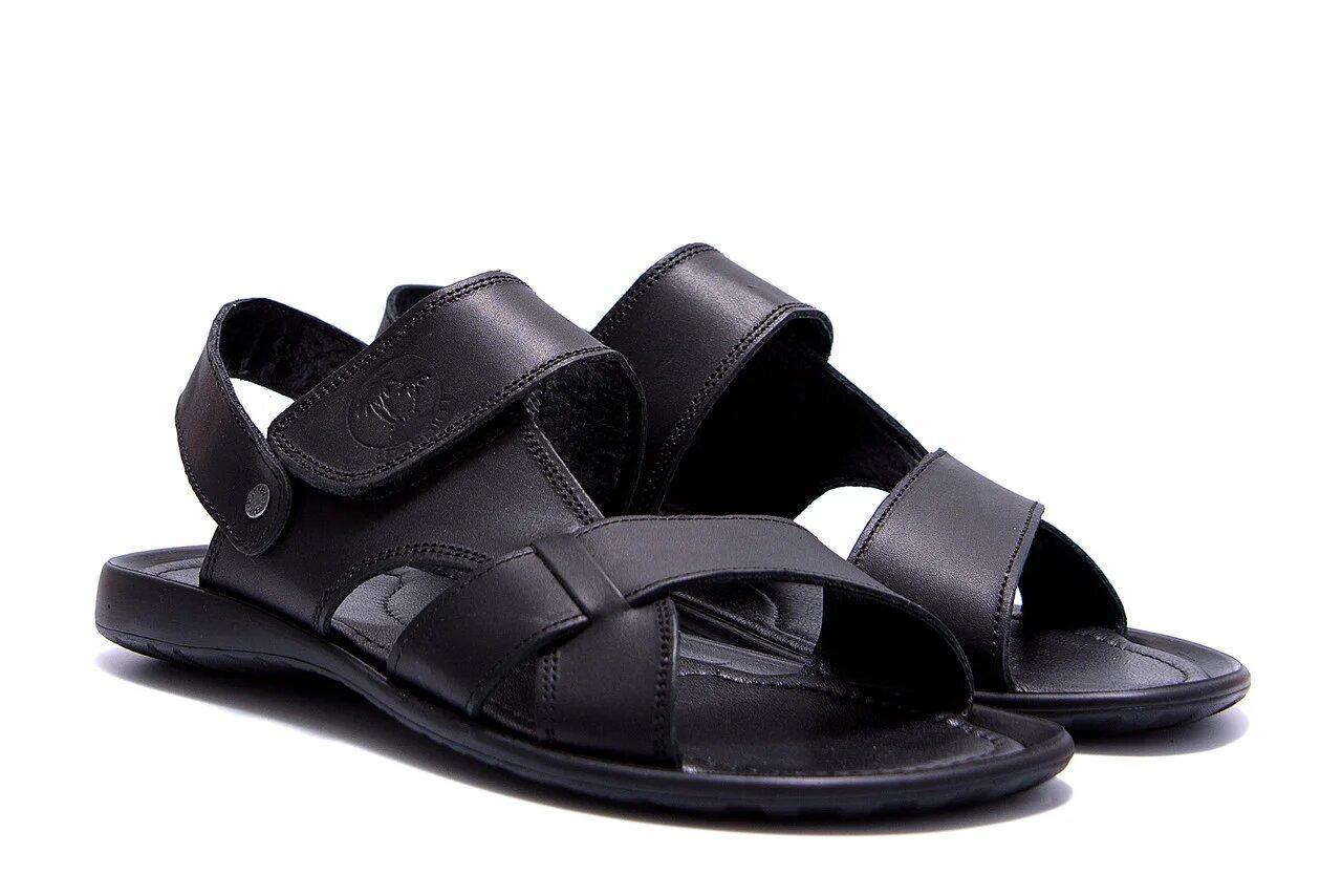 Чоловічі шкіряні сандалі KARDIO Black р 40 41 42 43 44 45
