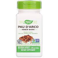Nature's Way, Кора муравьиного дерева, внутр слой, Pau D'arco 545 мг, 100 раст капсул