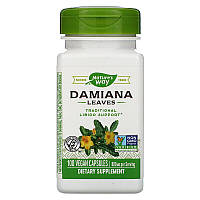 Nature's Way, Дамиана (лист) Damiana Leaves, 800 мг, 100 веган капсул