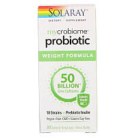 Solaray, Mycrobiome Probiotic Weight Formula, 50 Billion, 30 Enteric VegCaps