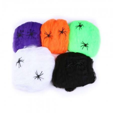 Паутина с пауками (20гр) черная, фото 2