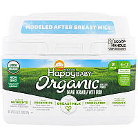 Happy Family Organics, Organics Happy Baby, формула для грудных детей, этап 2, 6-12 месяцев, 21 унция (595 г)