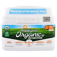 Happy Family Organics, Organics Happy Baby, Молочная смесь с железом, Уровень 1, с рождения до 12 месяцев, 595 г (21 oz)