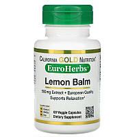 California Gold Nutrition, Экстракт мелиссы, европейское качество, 500 мг, 60 растительных капсул