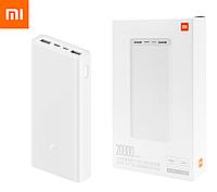 Оригинальный Xiaomi Mi Power Bank 3 20000 mAh PLM18ZM White (VXN4258CN) Быстрая Зарядка QC3.0 18W