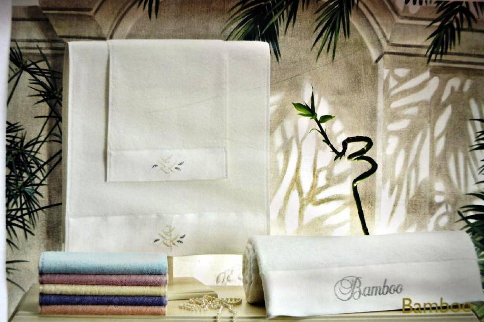 Набор полотенец Tivolyo Home BAMBOO тройка розовый