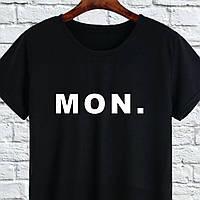 """Печать на футболках. Футболка с печатью """"MON."""""""