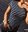 """Жіноча футболка у смужку тільняшка """"Естель"""", фото 8"""